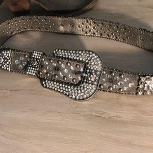 Bling silver belt